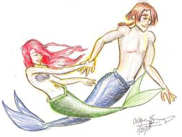 Ariel and Merman Jim by pluie3et3grenouille