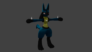 WIP 4.4 Lucario by PhiliChez