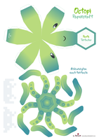 Octopi Papercraft Pattern by Kna
