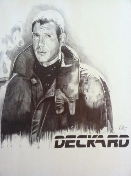 Harrison Ford as Rick Deckard in Blade Runner by mitchfuboy