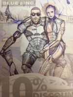 Mass Effect doodle by Coukeh