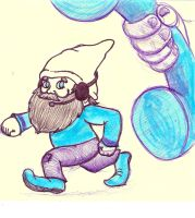 Callcenter gnome doodle by RoosterBatman
