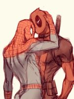 Spideypool42 by LKiKAi