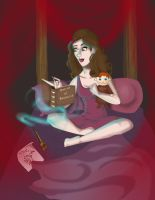 Hermione alone by Mize-meow