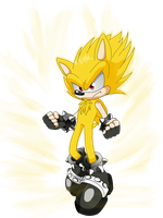 Super XAK The Hedgehog by X-A-K