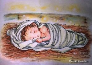 The Christ Child in the Manger by Dark-kanita