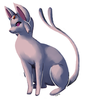 Espeon painting by OceanSpice