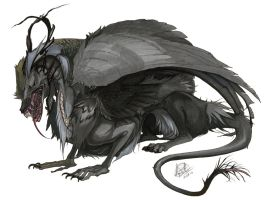 Nightmarefuel: Grey-Eyed Demon by RayEtherna