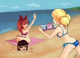 PPG by the seaside by cartoonmaniack