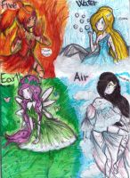 pb,fionna,marcy and fp-elements by NENEBUBBLEELOVER