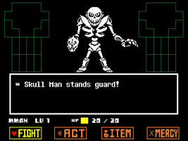 Undertale Skull Man by hfbn2
