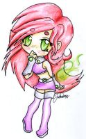 1st Chibi of '06 - Starfire by duckman272