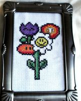 8 Bit Flower Bouquet by agorby00