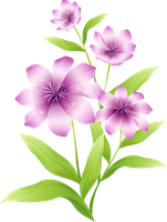 [Res] Light Purple Flowers PNG by HanaBell1