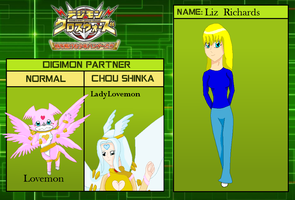 Digimon xros wars Hunters: Liz Richards by HeroHeart001