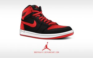 Air Jordan 1 Retro High OG 'Bulls' ver. 1 by BBoyKai91