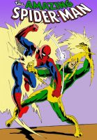 Spidey VS Electro by farstar09