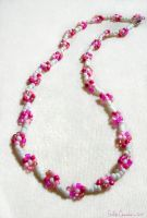Pink Purity Daisy Necklace by OtakuEC