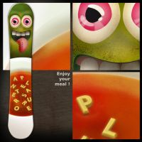 Snowboard  'Enjoy your soup' by B3Ns