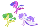 Glass bottle pony adopts 1 open by HamsterFluf