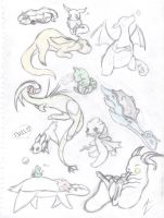 Pokemon doodles by Cour-cour