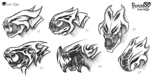 Reaver Heartless Sketches by Mark-MrHiDE-Patten