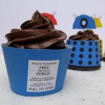 Tardis Cupcake Wrapper by F-A