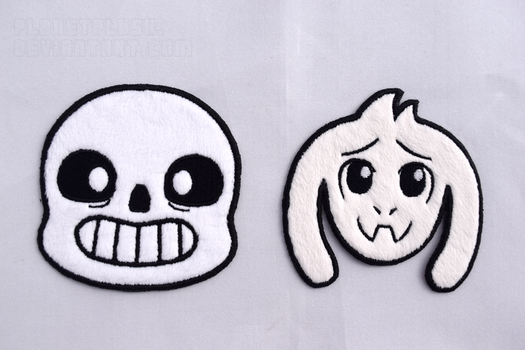Sans and Asriel Patches by PlanetPlush