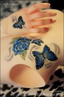 Tattoos: Luts DELF CP boy body ~ Rose/Butterfly by asainemuri