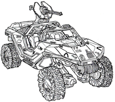 M12 Force Application Vehicle (Warthog) by Dandelo1