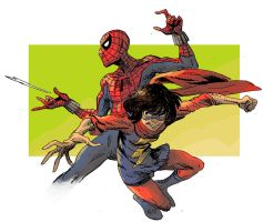 Spiderman Team-Up Kamala by theintrovert