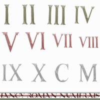 Fancy Roman Numerals by Urceola