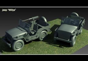 Model 3d : Jeep Willys by MarcinG1