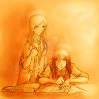 Studying Hard? -Lily and Snape by Artema