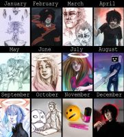 2014 summary of art by DamaiMikaz