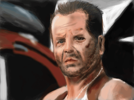 bruce willis quick paint by cliffbuck