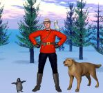 Canadian mountie by Gustvoc