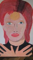 Bowie Painting by JohntheFishLovesCurt