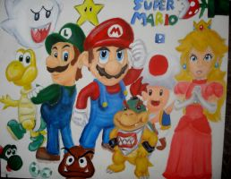 Super Mario by twinkelsparky1