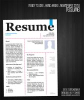 Free Resume Template . Newspaper Style by OLDwerks