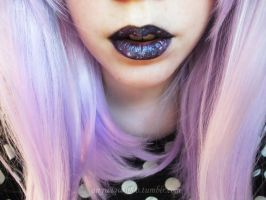 Galactic Lips. Cosmic Kisses. by Pastel-Ai
