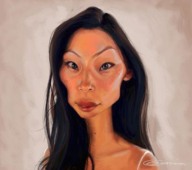 Lucy liu caricature by NightshadeBerry