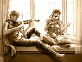 Quatre and Lacus- Beautiful Music by SapphireGamgee