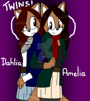 New Sonic OCs: Dahlia and Amelia by CardiGirl28