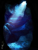Blue cavern by MrRabLo