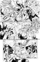 Teen Titans 09 Page 07 Inks by JPMayer