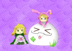 -APH- USxUK Chibi Easter by MidnightWolf01