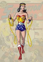 Golden Age Wonder Woman by trisaber