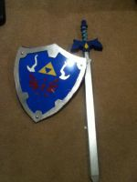 Master Sword And Hylian Shield by oftheTriforce