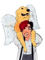 353 - Markiplier and Chica by Rosie1994